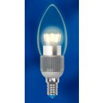 Диммируемая светодиодная лампа Uniel CRYSTAL свеча прозрачная (E14 5 Вт) 3000K