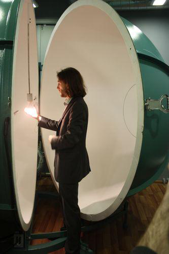 Сфера для измерения температуры света