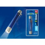 Фонарь Uniel S-LD013-CB Blue серии Стандарт «Mini light pen», алюминиевый корпус, 0,5 Watt LED, упаковка — кламшелл, 3хLR44 в/к, цвет — синий