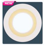 Встраиваемый умный светодиодный светильник Pulsar GLORY ALD-EMB-R110-07W-CWWW-3 круг с теплой-белой подсветкой