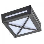 Влагозащищенный светильник Ecola для 1й лампы GX53 IP65 Квадрат с решеткой 3083W черный