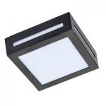Влагозащищенный светильник Ecola для 1й лампы GX53 IP65 Квадрат 3082W черный