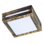 Влагозащищенный светильник Ecola для 1й лампы GX53 IP65 Квадрат 3082W черненая бронза
