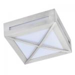Влагозащищенный светильник Ecola для 1й лампы GX53 IP65 Квадрат с решеткой 3083W сатин-хром