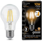 Светодиодная лампа Gauss LED Filament A60 E27 10W 2700К step dimmable