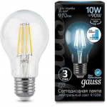 Светодиодная лампа Gauss LED Filament A60 E27 10W 4100К step dimmable