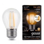 Светодиодная лампа Gauss LED Filament Globe E27 7W 2700K step dimmable