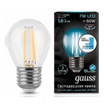 Светодиодная лампа Gauss LED Filament Globe E27 7W 4100K step dimmable