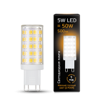 Светодиодная LED лампа Gauss LED G9 AC185-265V 5W 2700K керамика