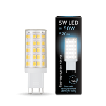 Светодиодная LED лампа Gauss LED G9 AC185-265V 5W 4100K керамика