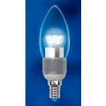 Диммируемая светодиодная лампа Uniel CRYSTAL свеча прозрачная (E14 5 Вт) 4500K