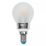 Cветодиодная лампа Uniel CRYSTAL G45 шар матовый (E14 5 Вт) 3000K