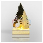 Деревянная фигурка с подсветкой  'Елочка с оленем' 12*6*21,5 см NEON-NIGHT