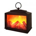 Декоративный камин 'Сканди' с эффектом живого огня 18х9х16 см, батарейки 3хС (не в комплекте) NEON-NIGHT