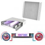 Светодиодный светильник облучатель рециркулятор с ультрафиолетовой бактерицидной лампой SVT-Med-ARM-595-595-UVC-18W-30W-4000K-M