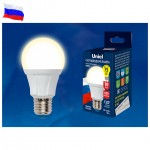 Светодиодная лампа UNIEL LED-A60 10W/WW/E27/FR матовая cерия Palazzo 3000К Сделано в России