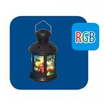Волшебный фонарик UNIEL со светодиодной RGB гирляндой внутри на батарейках ULD-L1220-010/DTB/RGB BLACK 12х20 см черный круглый